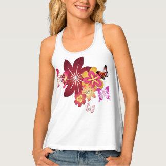Flowers n Butterflies Tank Top