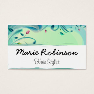 Flowers Nature Leaves Floral Hair Stylist Business Card