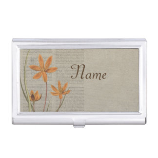 Flowers Newspaper Business Card Holder