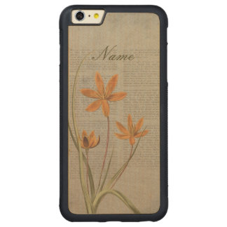 Flowers Newspaper Carved Maple iPhone 6 Plus Bumper Case
