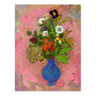 Flowers, Odilon Redon 1905 Floral Painting Postcard