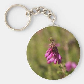 Flowers of a Dorset heath (Erica cilaris) Basic Round Button Keychain