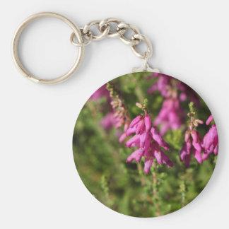 Flowers of a Dorset heath (Erica cilaris) Keychain