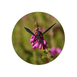 Flowers of a Dorset heath (Erica cilaris) Round Clock