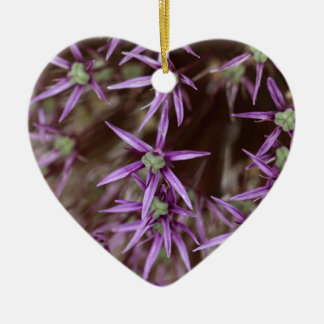 Flowers of a Persian onion Ceramic Heart Ornament