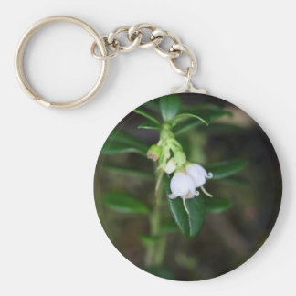 Flowers of a wild lingonberry (Vaccinium vitis-ide Keychain