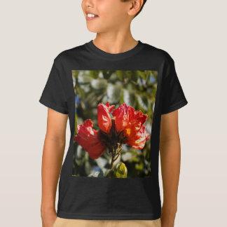 Flowers of an African tuliptree T-Shirt