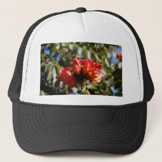 Flowers of an African tuliptree Trucker Hat
