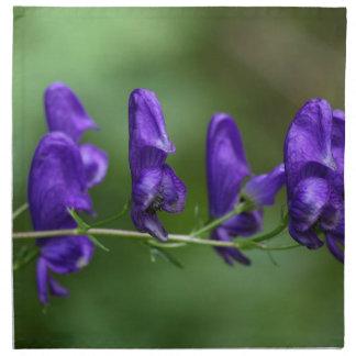 Flowers of an Akonite (Aconitum variegatum) Napkin
