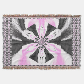 Flowers of Atlantis Gray and Pink Wave 2 TB SDL Throw Blanket