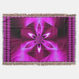 Flowers of Atlantis Pink Flame TB SDL Throw Blanket