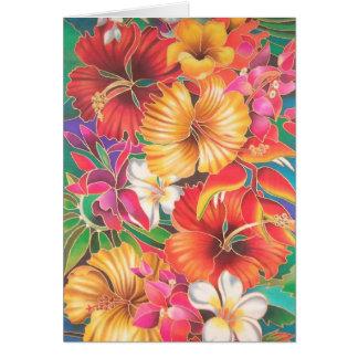 """FLOWERS OF FIJI"" CARD"