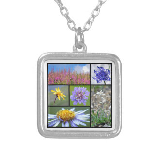 flowers of French Alps Silver Plated Necklace