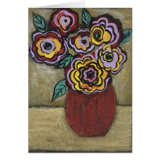FLOWERS OF MANY COLORS CARD