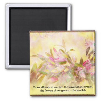 Flowers of One Garden Baha'i Quotation Magnet