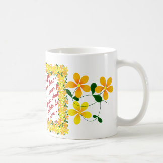 Flowers of Orange & Yellow Frame Coffee Mug