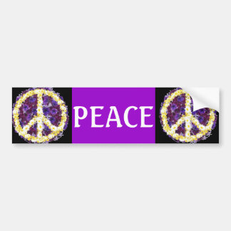 flowers of peace bumper sticker