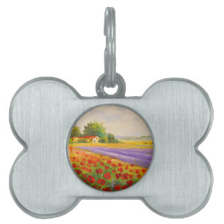 Flowers of Provence Pet ID Tags