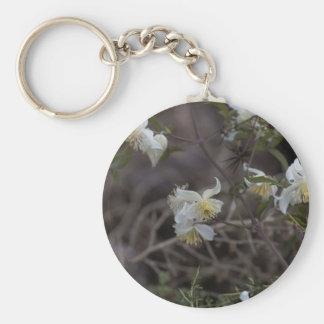 Flowers of Traveller Joy (Clematis brachiata) Keychain