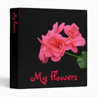 Flowers on black background 3 ring binders