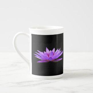 Flowers On Black Tea Cup