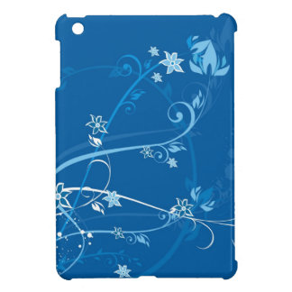 Flowers on Blue iPad Mini Case