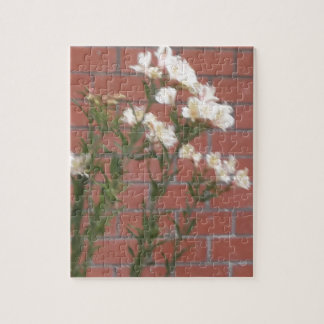 Flowers on Brick Jigsaw Puzzle