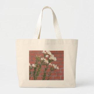Flowers on Brick Large Tote Bag