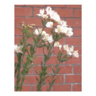 Flowers on Brick Letterhead