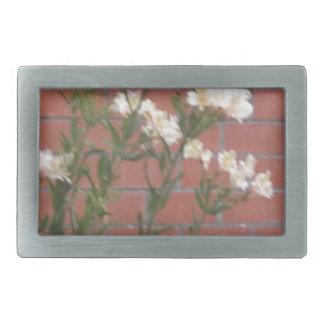 Flowers on Brick Rectangular Belt Buckle