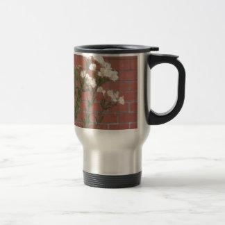 Flowers on Brick Travel Mug
