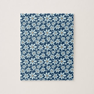 Flowers on dark blue jigsaw puzzle