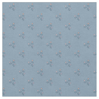 Flowers on Gray-Blue Pattern Fabric