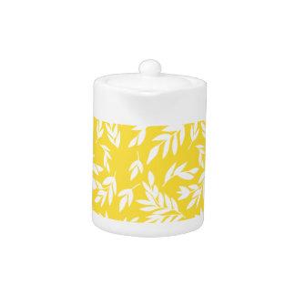 Flowers on honey yellow