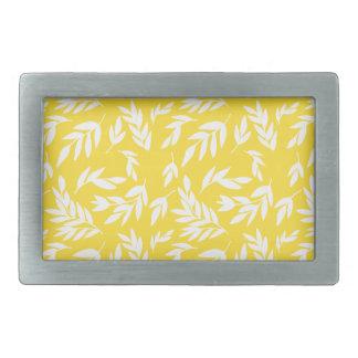 Flowers on honey yellow belt buckle