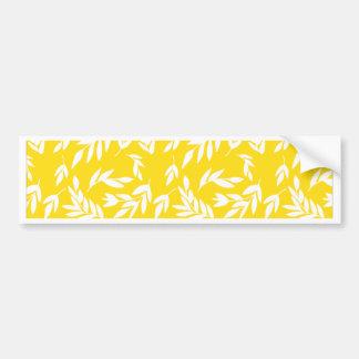Flowers on honey yellow bumper sticker