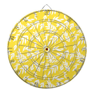 Flowers on honey yellow dartboard