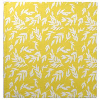 Flowers on honey yellow napkin