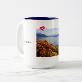 Flowers on Lac Léman Two-Tone Coffee Mug