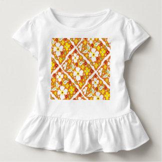 Flowers on Orange Toddler T-shirt