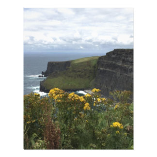 Flowers on the Cliffs of Moher Letterhead