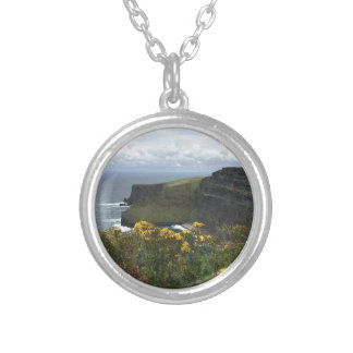 Flowers on the Cliffs of Moher Silver Plated Necklace