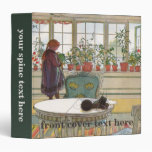 Flowers on the Windowsill by Carl Larsson 3 Ring Binders