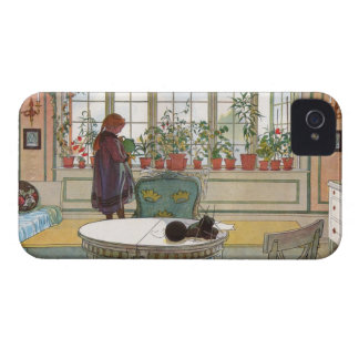 Flowers on the Windowsill by Carl Larsson iPhone 4 Cases