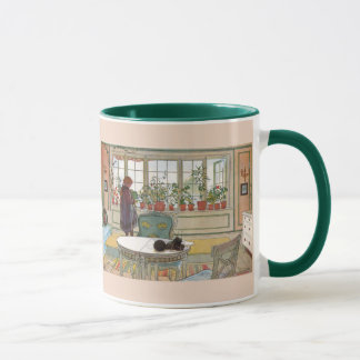 Flowers on the Windowsill by Carl Larsson Mug