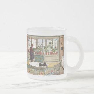 """Flowers on the Windowsill"" by Carl Larsson Coffee Mugs"