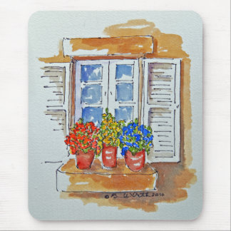 Flowers on the Windowsill Mousepad