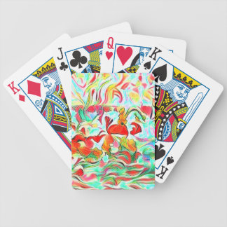 Flowers On Water Bicycle Playing Cards