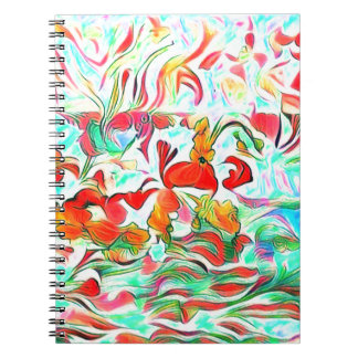Flowers On Water Notebooks
