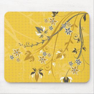 Flowers on Yellow - Mousepad